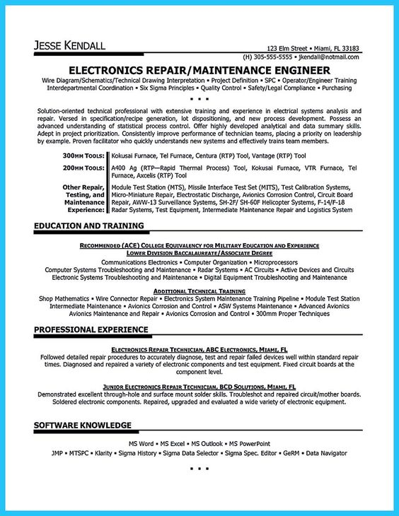 a p mechanic resume