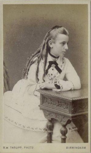CDV Well Dressed Girl by Thrupp of Birmingham C 1870   eBay