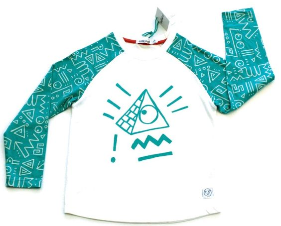 indikidual - Turquoise Pyramid Raglan Tee - Zeph