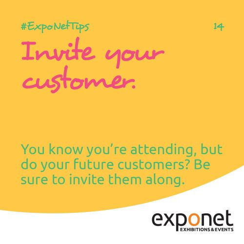Invite your customer you may know youre attending the exhibition invite your customer you may know youre attending the exhibition but do your clients or future customers know if not how will they discover y stopboris Choice Image