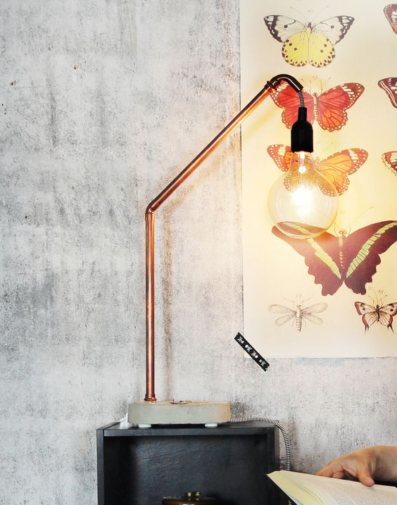 more copper lamps copper diy concrete lamps step by step tutorials diy ...
