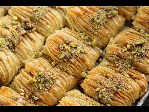 32 بقلاوة تركية بطريقة جديدة لذيذة و رائعة في الشكل والمذاق و سهلة التحضير مع رباح محمد الحلقة 39 Middle Eastern Food Desserts Diy Food Recipes Arabic Food