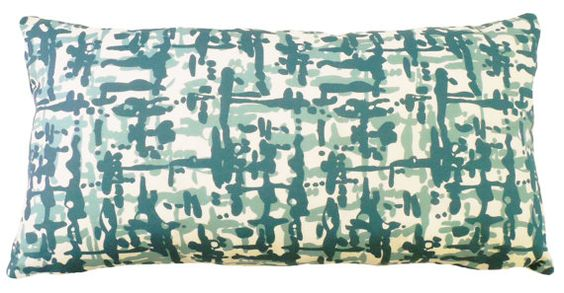 Graphiti Woven decorative  lumbar style pillow, in Mineral, 13 x 25