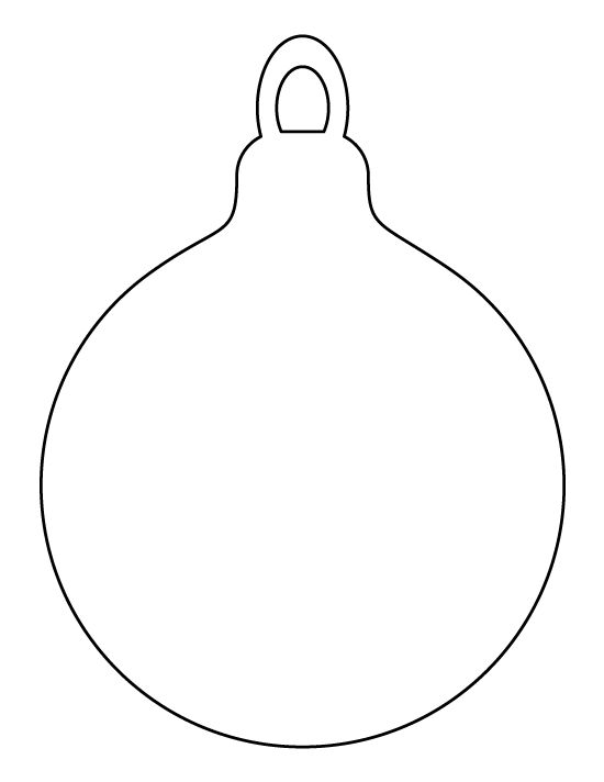 christmas ornament template - photo #11