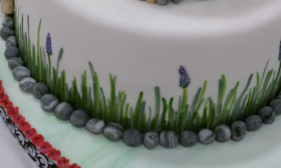 cake images with painted grass - Google Search