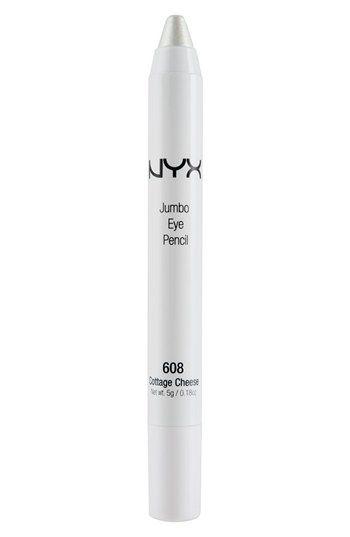 "NYX Jumbo Eye Pencil in ""Cottage Cheese"". Great for highlighting inner corner of eyes!"