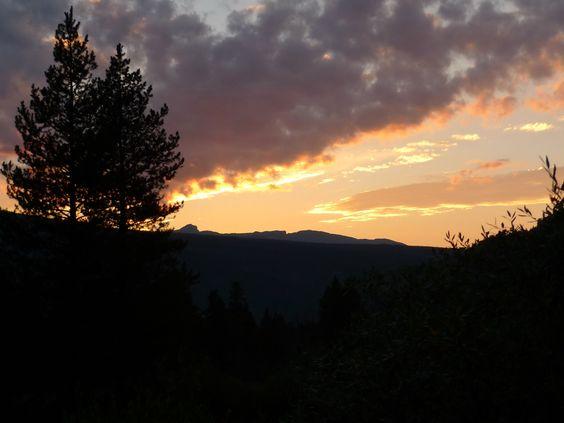 Sunset at Camp Hale near Leadville, CO 8/11/12