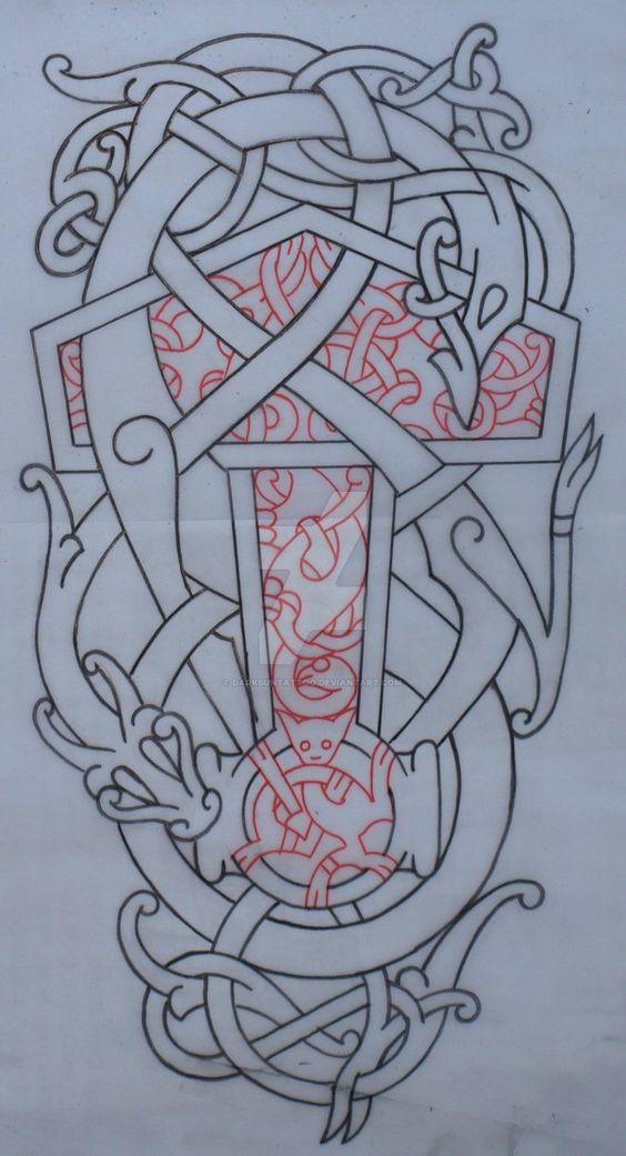 motifs pour le tatouage viking inspiration nordique. Black Bedroom Furniture Sets. Home Design Ideas