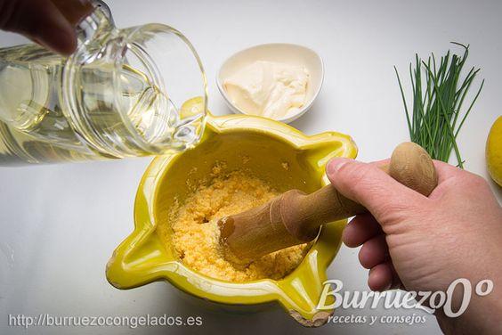 #Salsas básicas y recurrentes II, Sabayón de pimiento rojo, salsa tártara y salsa curry | Burruezo 0º