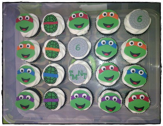 TMNT themed cupcakees