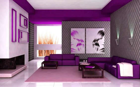 remarkable light violet color house (5) | About Home | Pinterest | Violets,  Purple interior and House interior design
