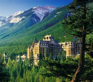 Banff, Canada - specifically the Fairmont - WOW, just WOW - I will go in the summer to experience it with all of the natural summer beauty