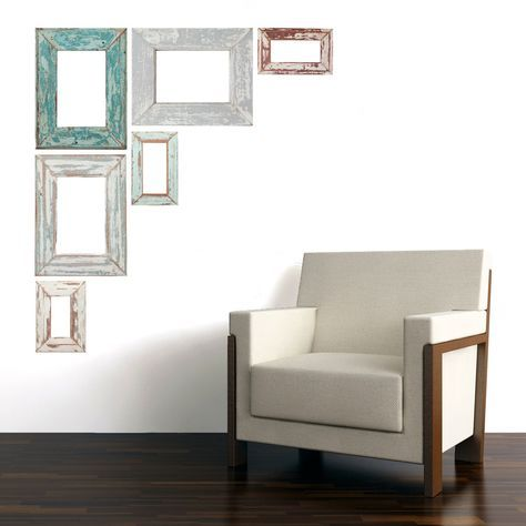 Adhesive Weathered Frames Frames On Wall Unique Wall Decor Decor