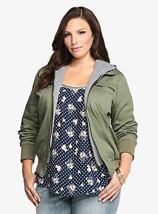 Plus size bomber jacket with hood – Jackets photo blog