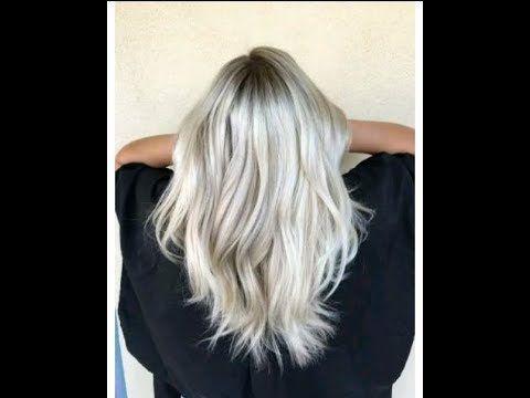صبغ الشعر باللون الاشقر الفاتح الرمادي فيديو تطبيقي Youtube Long Hair Styles Hair Styles Hair