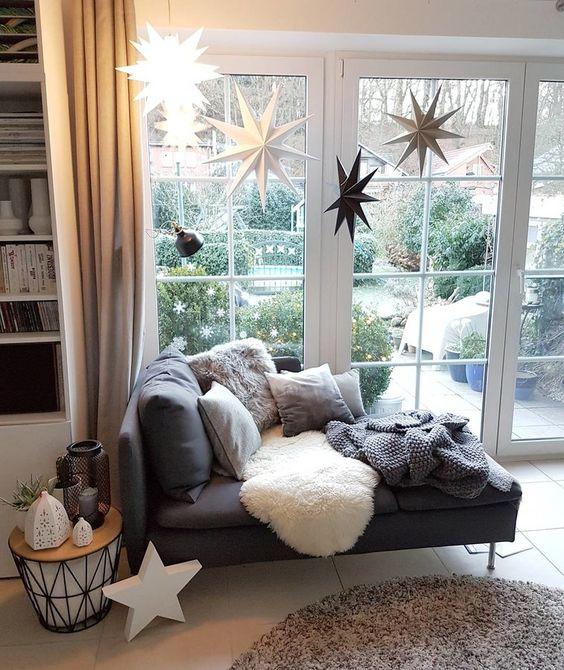 Hier Pelz, Weihnachten und Anna - wohnzimmer couch landhausstil