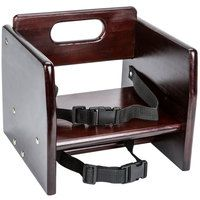 Choice Wood Booster Seat / Chair with Dark Finish (Unassembled)