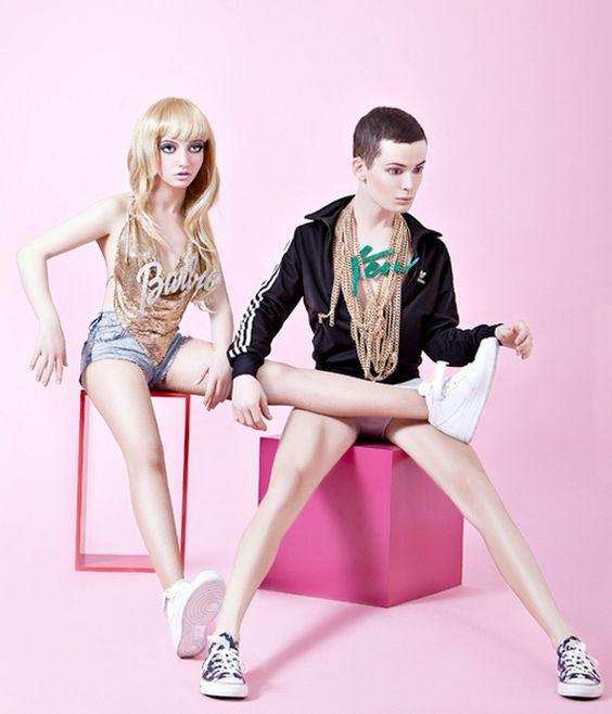 "Creepy photo shoot of what Barbie + Ken might look like in ""real life"" by Hayden Wood"