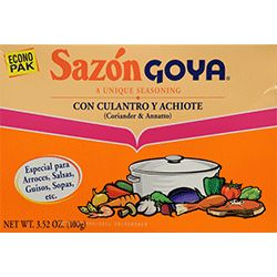 Sazon, Con Culantro and Achiote: