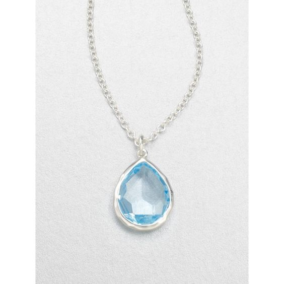 Ippolita Blue Topaz Sterling Silver Pendant Necklace ($650) ❤ liked on Polyvore