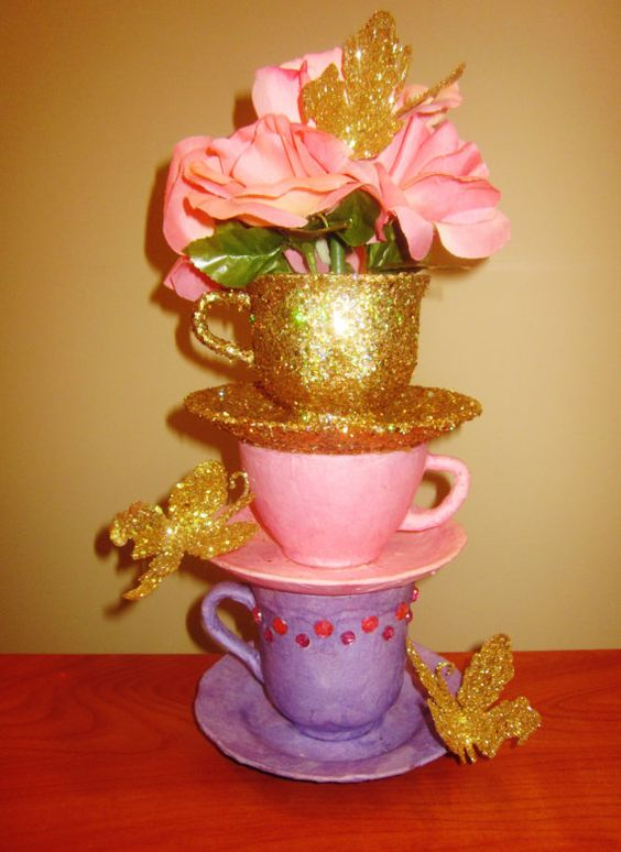 Tea party centerpieces alice in wonderland and