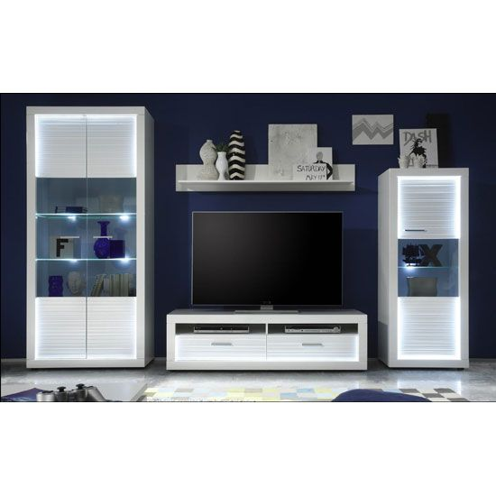 Starlight Living Room Furniture Set 1 In White Gloss With Led Living Room Sets Furniture Tv Wall Unit Living Room Furniture