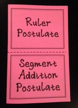 math worksheet : ruler postulate and segment addition postulate geometry foldable  : Segment Addition Postulate Worksheet