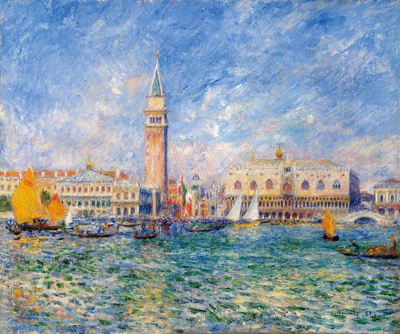 Pierre-Auguste Renoir: View of Venice (Doges Palace), 1881