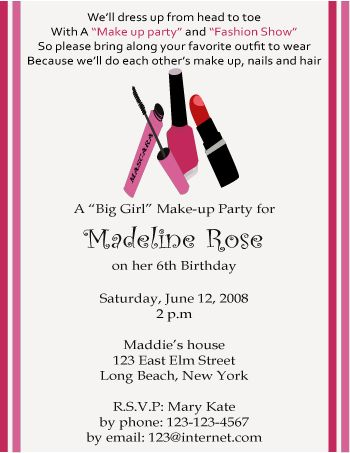 Theme parties, Invitations and Beauty salons on Pinterest