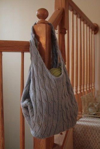 old sweater bag tutorial