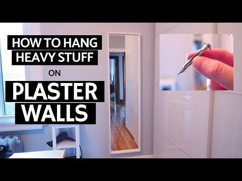 Hanging Heavy Mirror On Plaster Walls In This Short Tutorial I Ll Show You How To Hang A Heavy Mirror On Plas Hanging Heavy Mirror Plaster Walls Heavy Mirror