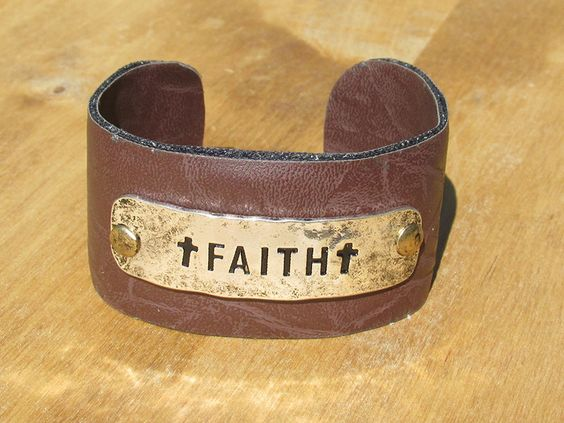 Faith Leather cuff bracelet - Southern State of Mind Jewelry