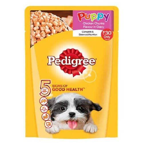 Shop Pedigree Puppy Chicken Chunks Flavor In Gravy 80 Gms Online