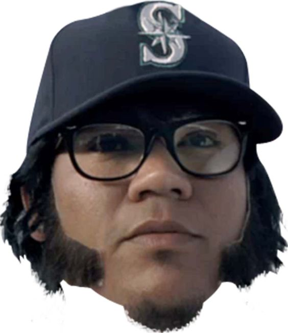 Larry Bernandez's sideburns make for a great disguise and they look pretty good too, right? Okay, maybe not everyone would agree with that statement, but we still gotta give Larry some love.