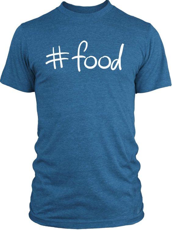 Big Texas Hastag Food (White) Vintage Tri-Blend T-Shirt