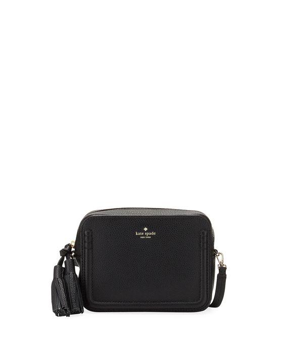 orchard street arla crossbody bag, black