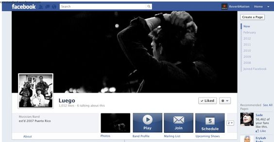 ReverbNation Facebook Timeline