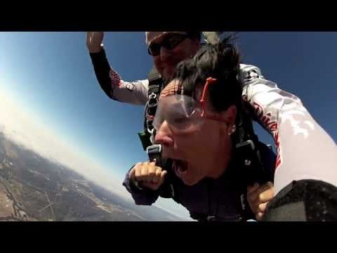 Hilarious First Time Skydive Gopro Video Leap Of Faith Youtube Skydiving Tandem