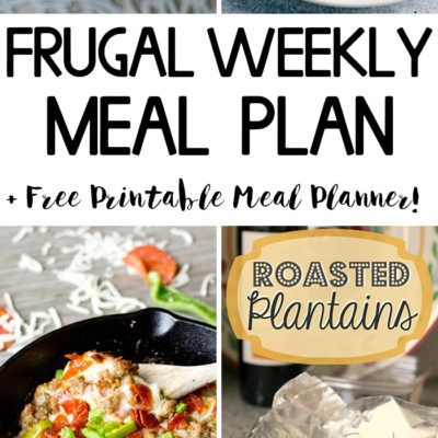 Frugal Weekly Meal Plan #2