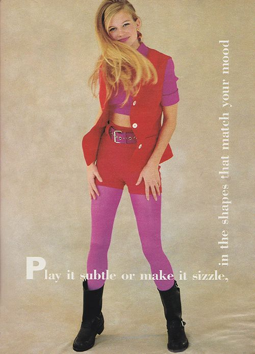 "justseventeen: ""February 1991. 'Play it subtle, or make it sizzle, in the shapes that match your mood.' """