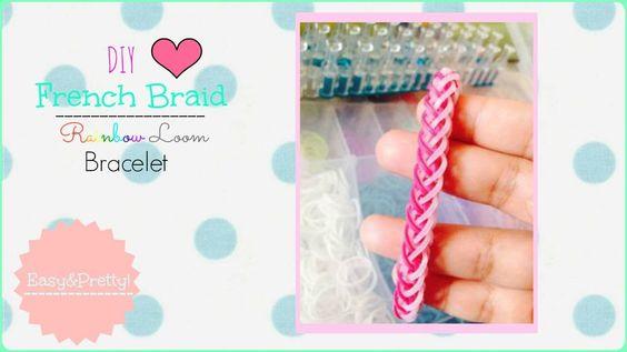 DIY French Braid Rainbow Loom Bracelet ♥   Jazmyn Johansen