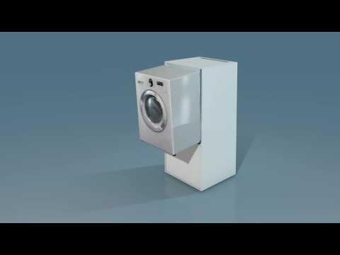Waschmaschinenschrank Erhoht Mit Platz Fur Trockner Waschturm Trockner Auf Waschmaschine Wasche Waschmaschine
