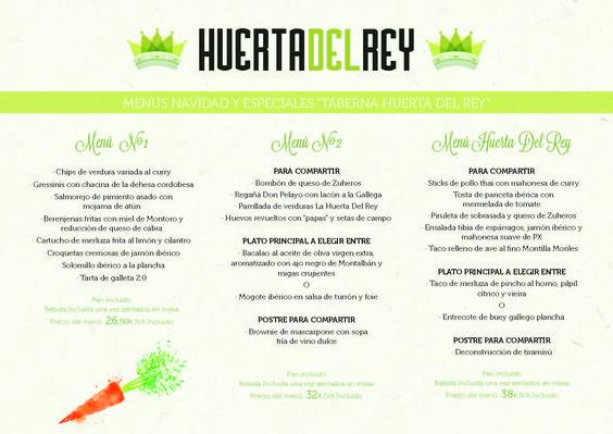 Menú especial de Navidad. Disfruta de la mejor comida navideña en nuestra Huerta.