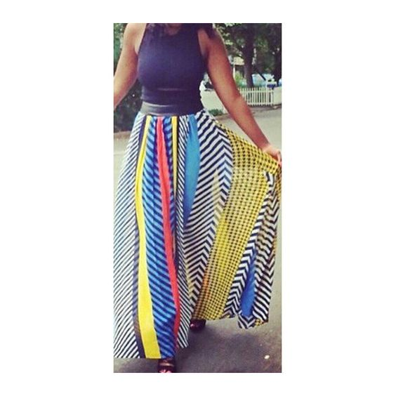 Long Colorful Skirts - Dress Ala