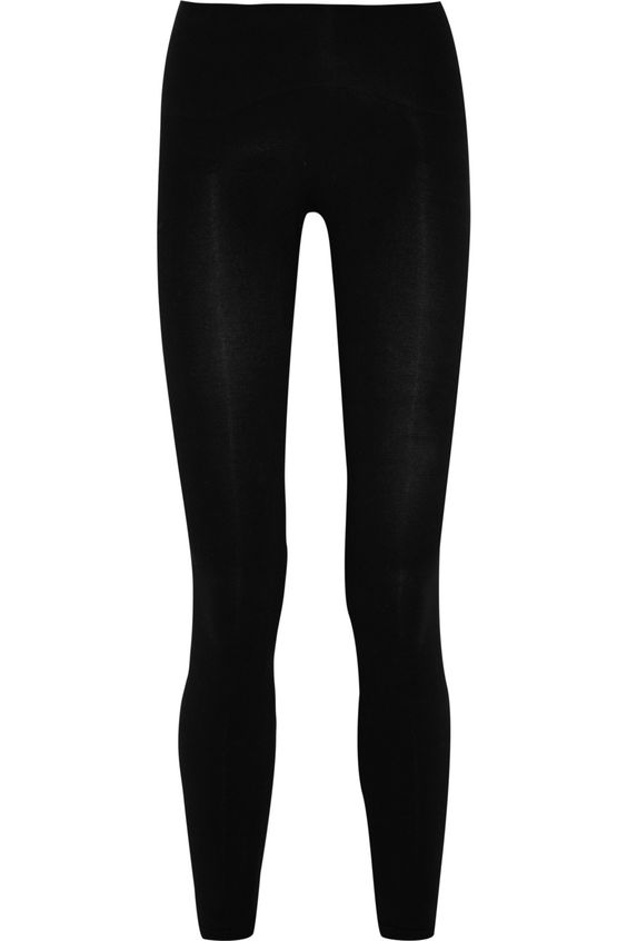 Spanx|Look-At-Me stretch cotton-blend leggings|NET-A-PORTER.COM