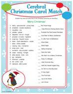 Cerebral Christmas Carol Match - Christmas party game