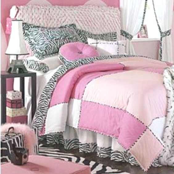 Light pink zebra bedding emilee 39 s room pinterest for Pink and zebra bedroom designs