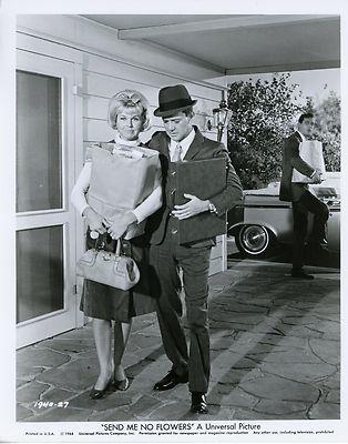 "Tony Randall & Doris Day in ""Send me no flowers."" Tony Randall is hilarious as Rock Hudson's best friend."