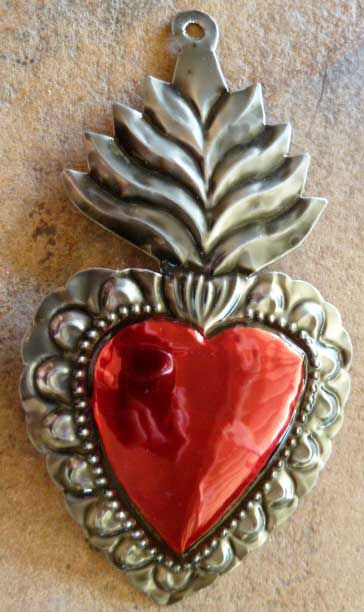Mexican tin heart