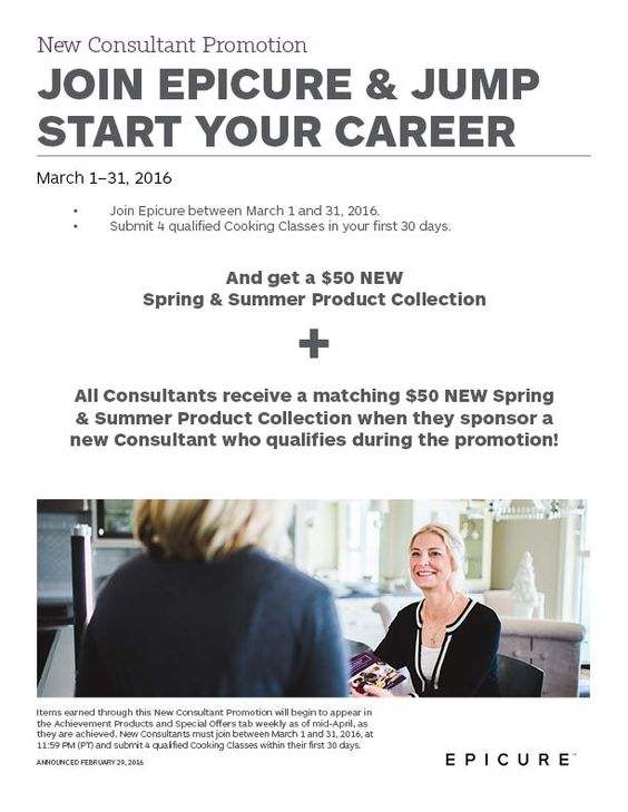 March right into a new career with Epicure!